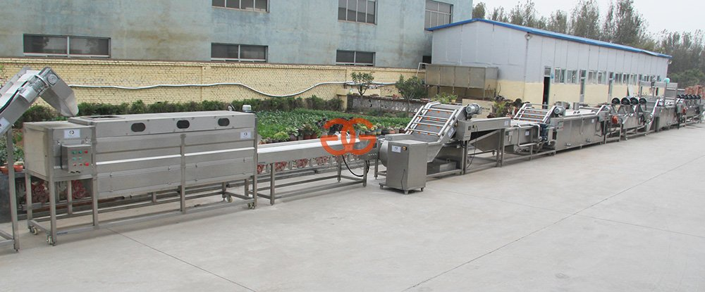 Dây chuyền sản xuất khoai tây chiên kiểu Pháp GELGOOG với 500 kg / giờ